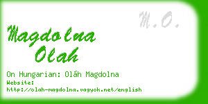 magdolna olah business card